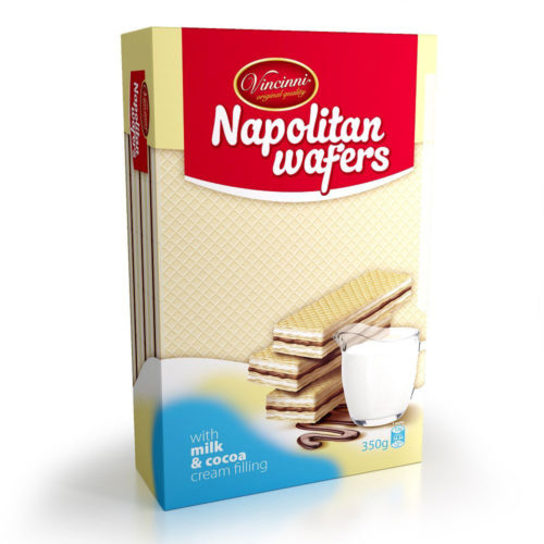 Napolitan wafers mliečno-kakaové 350g